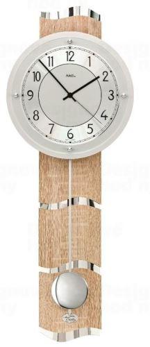 Luxusné kyvadlové nástenné hodiny 5214 AMS riadené rádiovým signálom 66cm