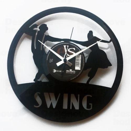 Dizajnové nástenné hodiny Discoclock 063 Swing 30cm