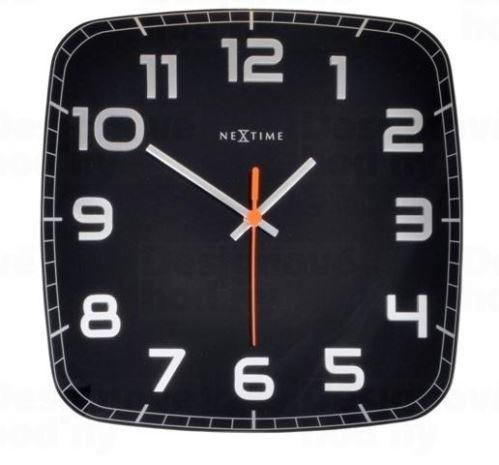 Dizajnové nástenné hodiny 8816zw Nextime Classy square 30cm