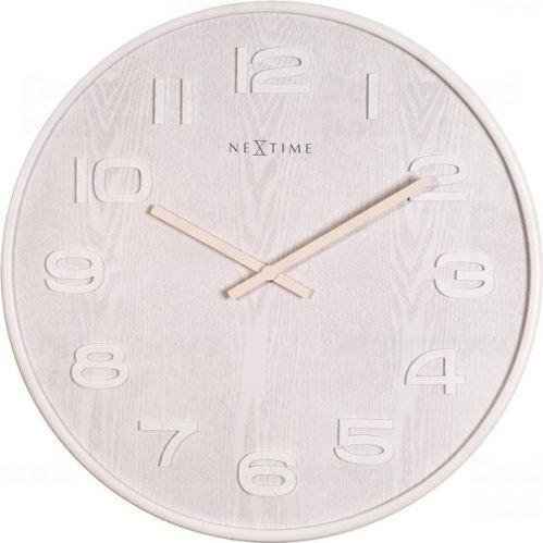Dizajnové nástenné hodiny 3096wi Nextime Wood Wood Medium 35cm