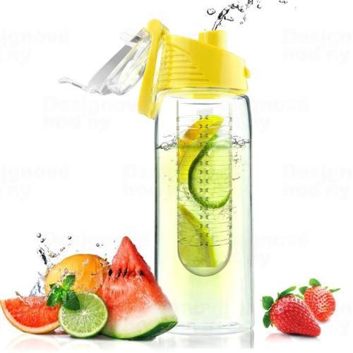 ASOBO dizajnová fresh fľašu s Infuser Flavour It žltá 600ml