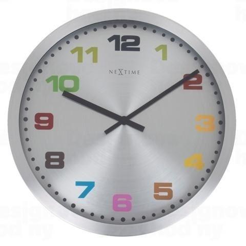 Dizajnové nástenné hodiny 2907kl Nextime Mercure Color 45cm