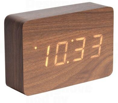 Dizajnový LED budík - hodiny 5653DW Karlsson 15cm