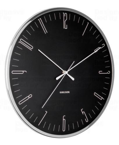 Dizajnové nástenné hodiny 5754BK Karlsson 40cm
