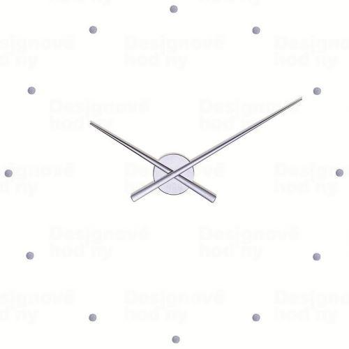 Dizajnové nástenné hodiny Nomon OJ strieborné 80cm