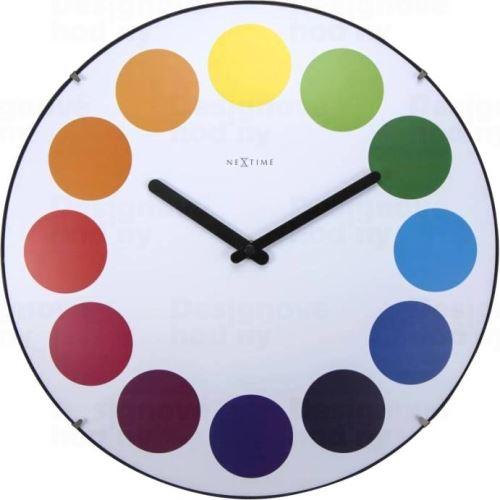 Dizajnové nástenné hodiny 3166 Nextime Dots Dome 35cm