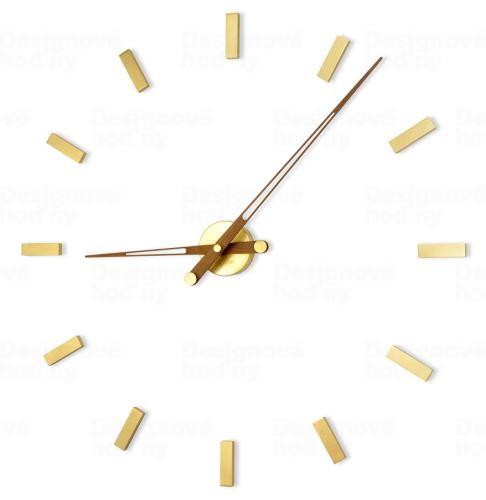 Dizajnové nástenné hodiny Nomon Taçon 12N Gold 100cm