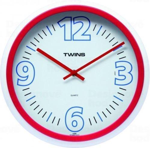 Nástenné hodiny Twins 2896 red 31cm