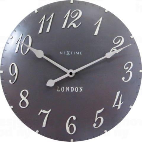 Dizajnové nástenné hodiny 3084gs Nextime v aglickém retro štýle 35cm
