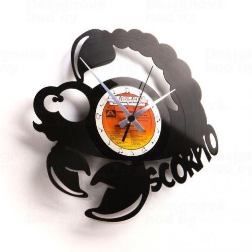 Dizajnové nástenné hodiny Discoclock Z08 Škorpión 30cm