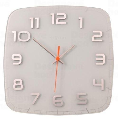 Dizajnové nástenné hodiny 8816wi Nextime Classy square 30cm