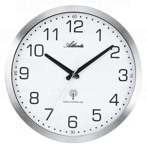 Dizajnové nástenné hodiny AT4371-0 riadené signálom DCF 30cm