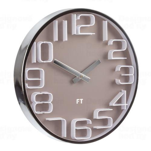 Dizajnové nástenné hodiny Future Time FT7010BR Numbers 30cm