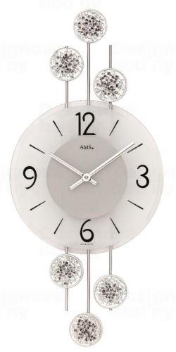 Dizajnové nástenné hodiny 9440 AMS 47cm