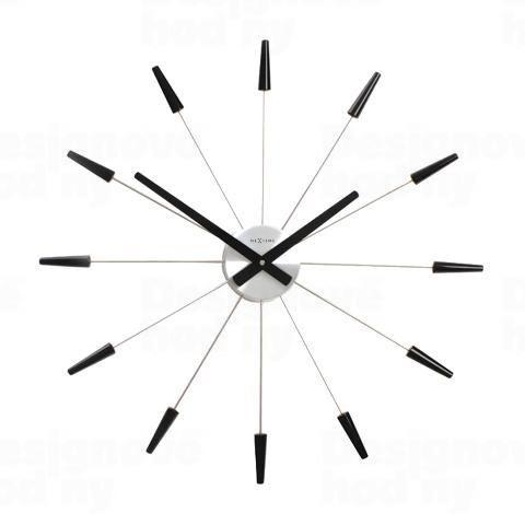 Dizajnové nástenné hodiny 2610zw Nextime PLUG INN čierne 60cm