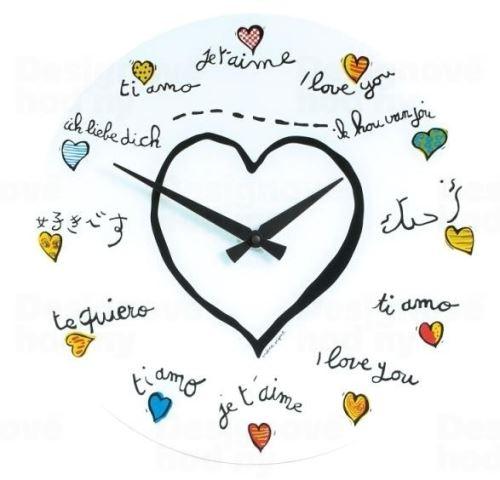 Dizajnové nástenné hodiny 8030 Nextime Loving You 43cm