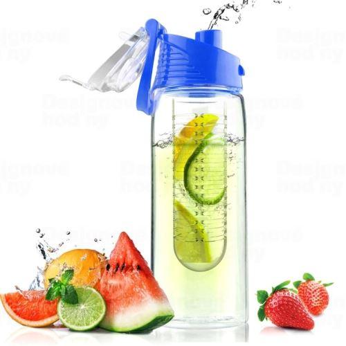 ASOBO dizajnová fresh fľašu s Infuser Flavour It modrá 600ml