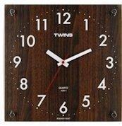 Nástenné hodiny Twins 292-1 brown 30cm