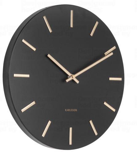 Dizajnové nástenné hodiny 5821BK Karlsson 30cm