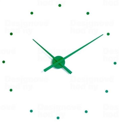 Dizajnové nástenné hodiny Nomon OJ zelené 80cm