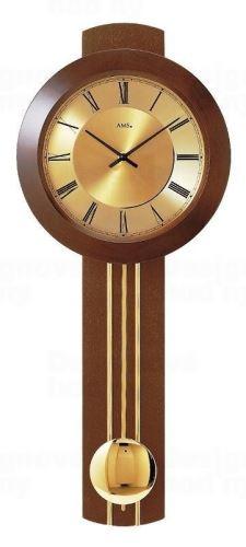 Kyvadlové nástenné hodiny 5132/1 AMS riadené rádiovým signálom 60cm