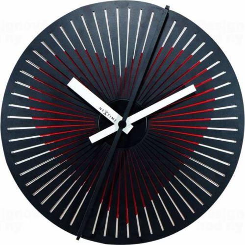 Dizajnové nástenné hodiny Nextime 3124 Kinegram Heart 30cm