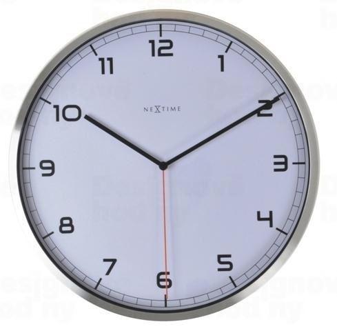 Dizajnové nástenné hodiny 3080wi Nextime Company number 35cm