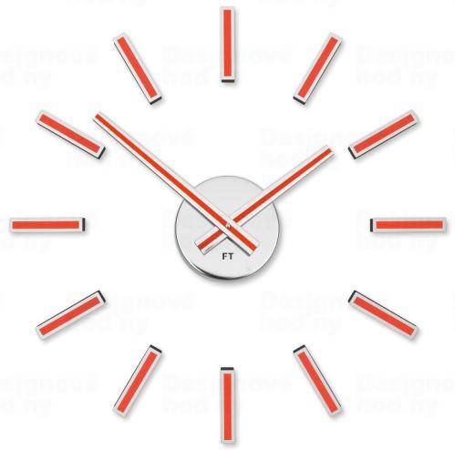 Dizajnové nalepovacie hodiny Future Time FT9400RD Modular red 40cm