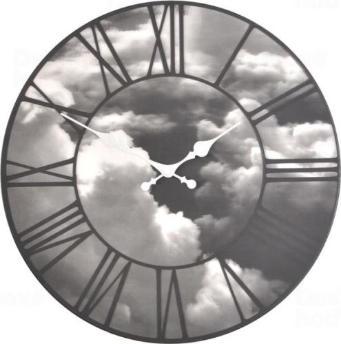 Dizajnové nástenné hodiny 3037 Nextime Clouds 39cm
