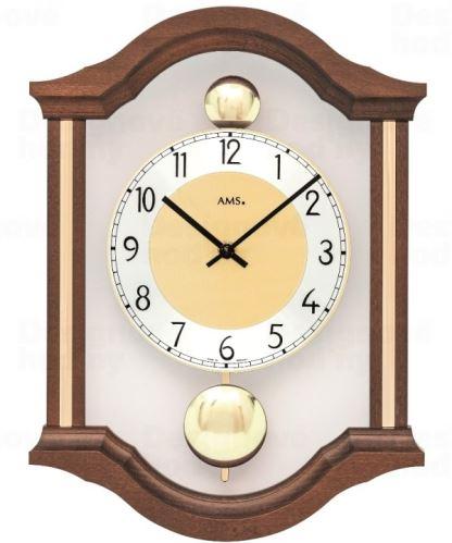 Kyvadlové nástenné hodiny 7447/1 AMS 34cm