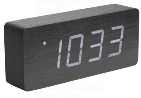 Dizajnový LED budík - hodiny 5654BK Karlsson 21cm