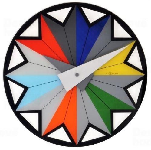 Dizajnové nástenné hodiny 8163 Nextime Circus 43cm