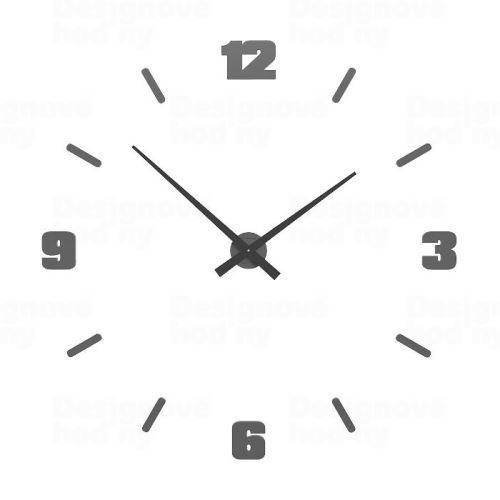 Dizajnové hodiny 10-306 CalleaDesign Michelangelo L 100cm (viac farebných verzií) Farba antracitová čierna - 4