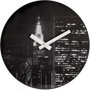 Dizajnové nástenné hodiny 3005 Nextime The City 39cm