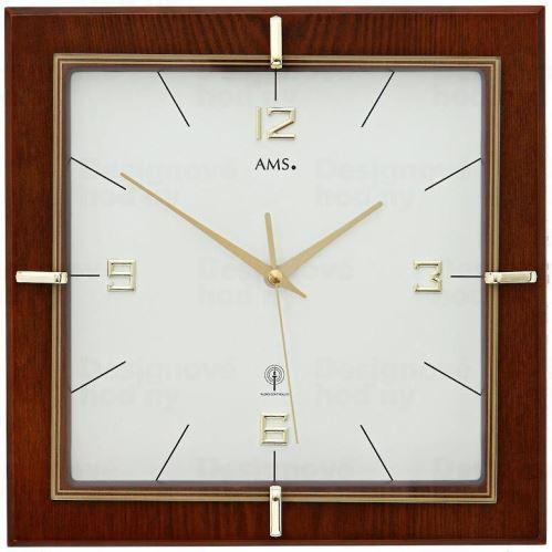 Nástenné hodiny 5834 AMS riadené rádiovým signálom 29cm