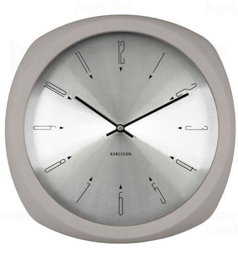 Dizajnové nástenné hodiny 5626GY Karlsson 31cm