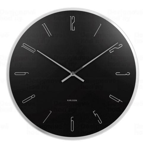 Dizajnové nástenné hodiny 5800BK Karlsson 40cm