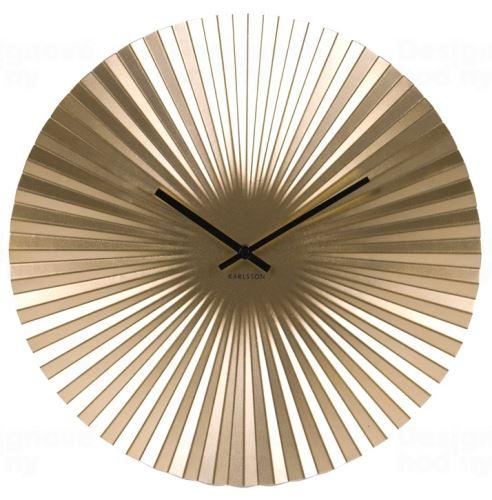Dizajnové nástenné hodiny 5657GD Karlsson 40cm
