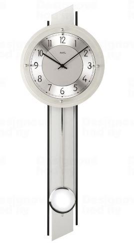 Kyvadlové nástenné hodiny 5234 AMS riadené rádiovým signálom 72cm