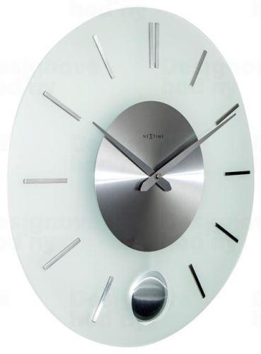 Dizajnové nástenné hodiny 3145 Nextime Stripe Pendulum 40cm