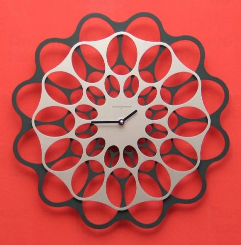 Dizajnové hodiny Diamantina & Domeniconi antracit / aluminium 40cm
