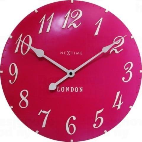 Dizajnové nástenné hodiny 3084rz Nextime v aglickém retro štýle 35cm