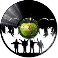 Nástenné vinylové hodiny Beatles