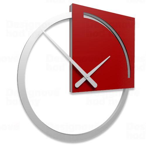 Dizajnové hodiny 10-124 CalleaDesign Karl 45cm (viac farebných verzií) Farba svetlo červená - 64