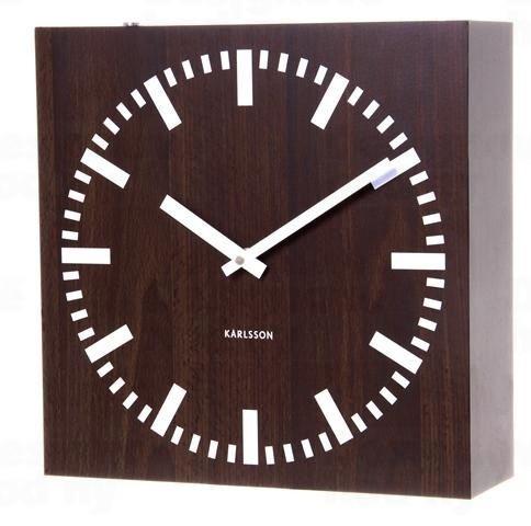 Obojstranné nástenné hodiny 5529 wenge 30cm