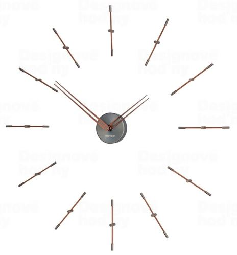Dizajnové nástenné hodiny Nomon Merlin Graphite Small 70cm