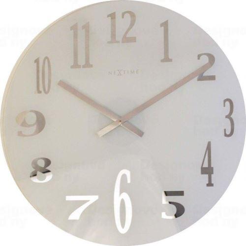 Dizajnové nástenné hodiny 2472 Nextime Mirror 43cm