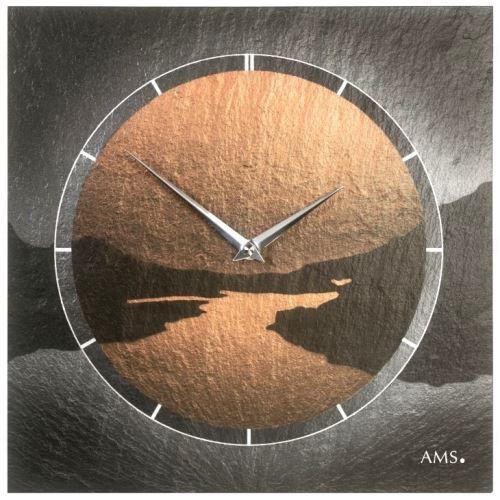 Dizajnové nástenné bridlicové hodiny 9513 AMS 30cm