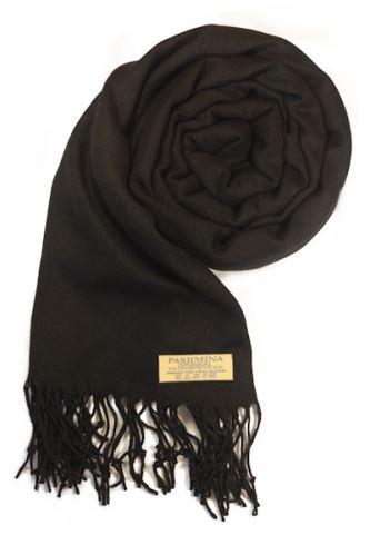 Pashminové šál - čierna