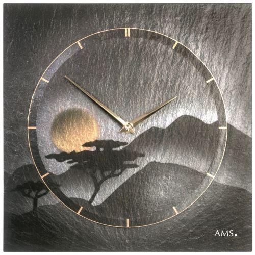 Dizajnové nástenné bridlicové hodiny 9514 AMS 30cm